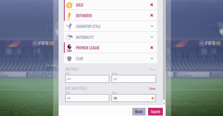 FIFA FUT 18 premier league defender trading method