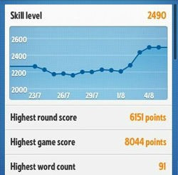 Ruzzle - Keep track of your statictics - tips guide