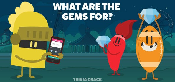 what are the gems for in Trivia Crack guide