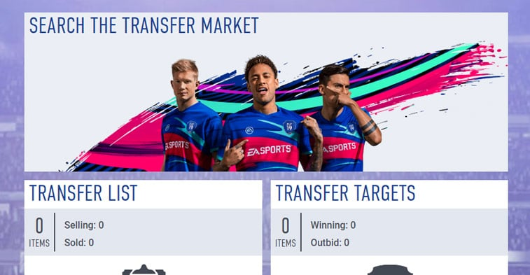 Search filters to snipe players cards FIFA FUT 19