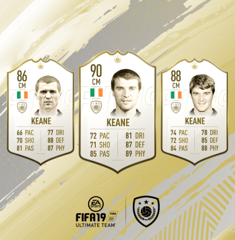 keane fifa fut 19 icon guide